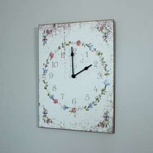 Wooden Floral Wall Clock