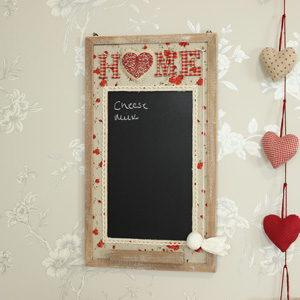 Wooden 'Home' Chalk Board
