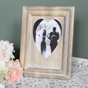 Wooden Love Heart Photograph Frame
