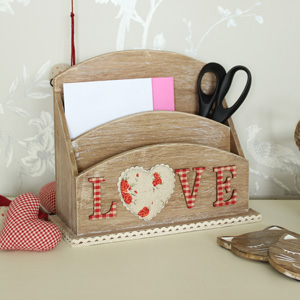 Wooden 'Love' Letter Rack