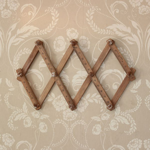 Wooden Ruler Wall Hooks