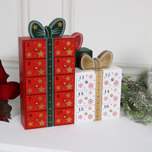 Wooden Trio of Gift Boxes Advent Calendar
