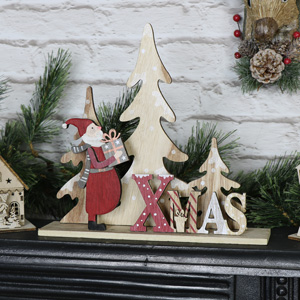Wooden Xmas Freestanding Sign
