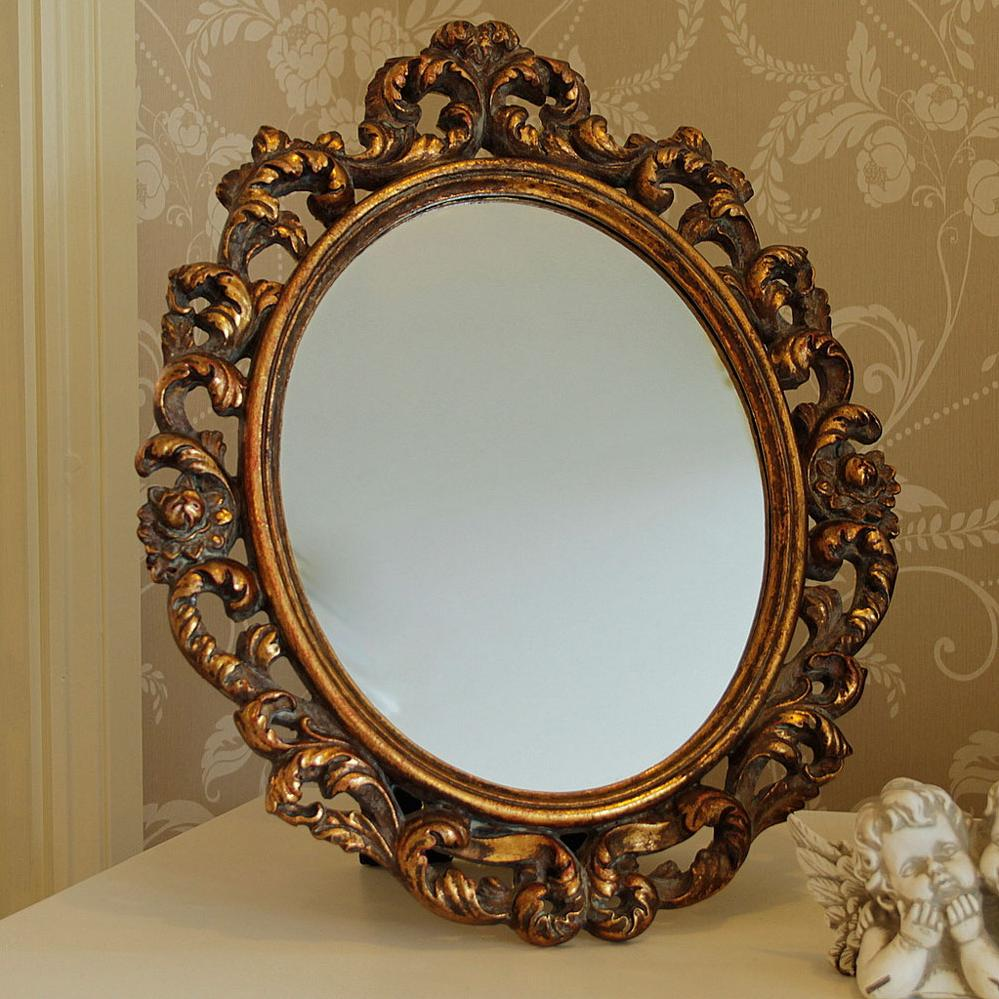 Gold ornate mirror melody maison for Ornate mirror