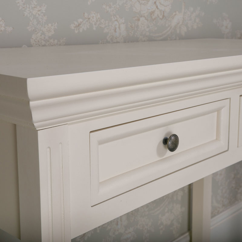 2 Drawer Console/Dressing Table - Daventry Cream Range