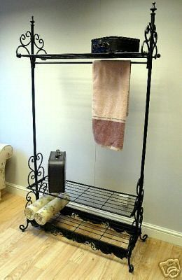 Ornate clothes rail in Black