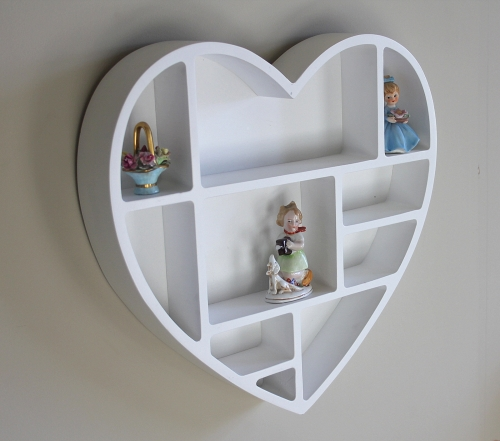 Details About White Heart Shaped Wall Shelf Bedroom Girls