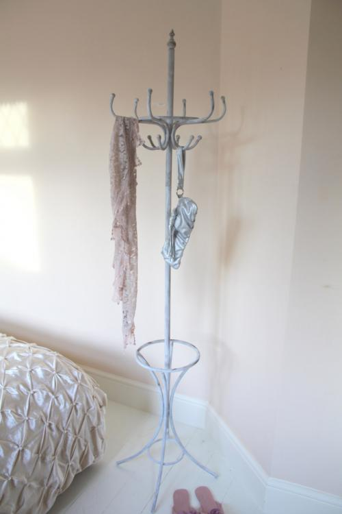 grey distressed coat umbrella hat stand holder hooks rack vintage chic