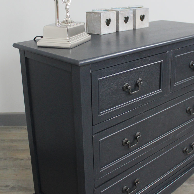 Dark Grey Chest Of Drawers French Style Painted Bedroom