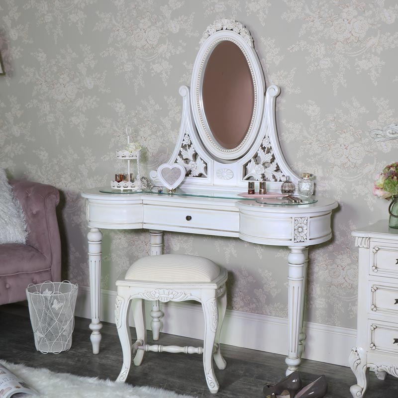 Cream Wardrobe, Dressing Table Set, Chest of Drawers, Pair of Bedsides - Limoges Range
