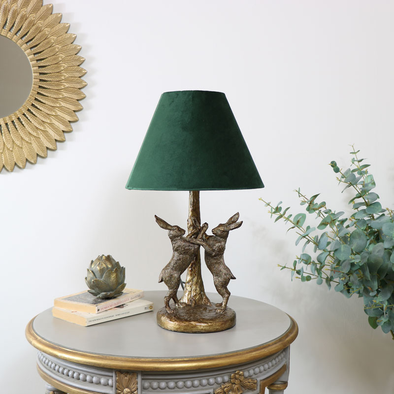 unusual antique gold table lamps uk