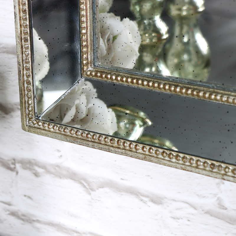 Antique Gold Mirror with Speckled Finish - Melody Maison®