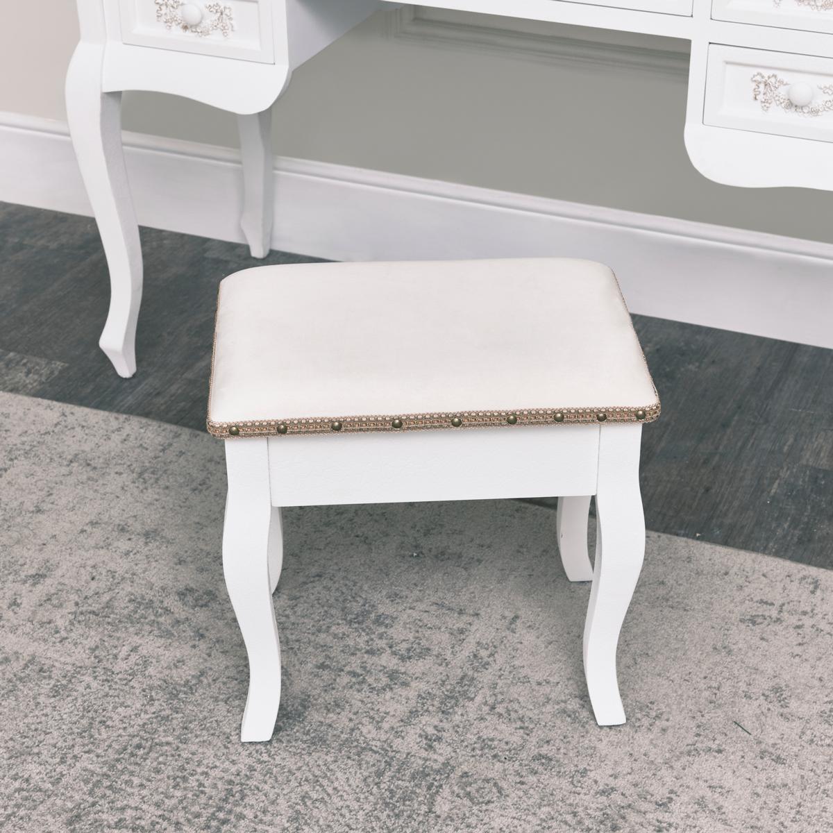 Bianco antico toletta sgabello mobili camera da letto alla francese shabby chic ebay - Toletta da camera ...