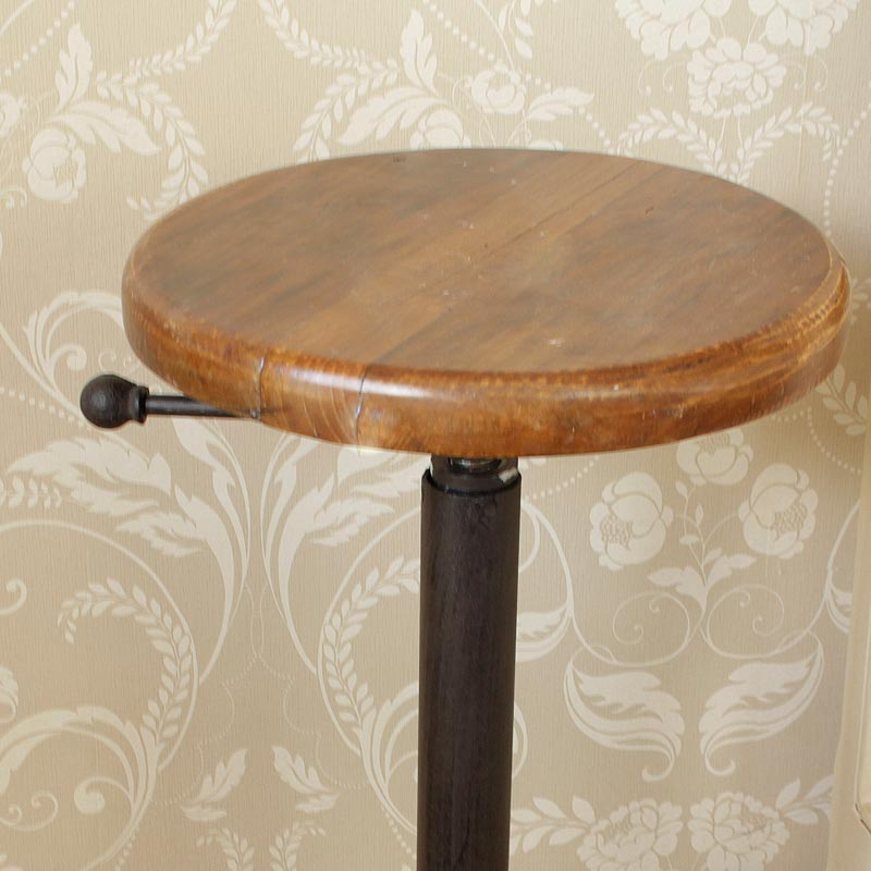 Bar stool with wooden top
