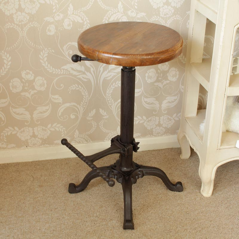 Replica Tractor Seat Bar Stool With Wooden Top Melody