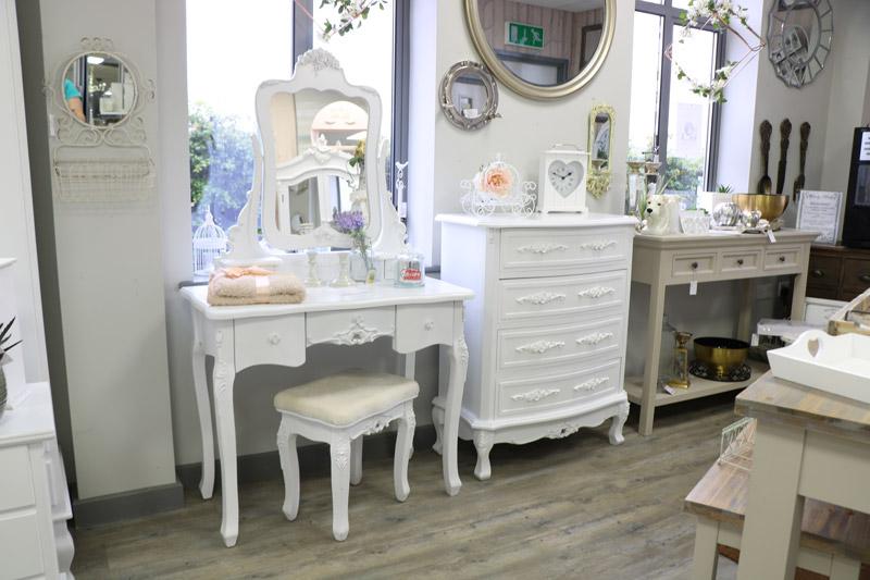 Bedroom Furniture Set - Dressing Table Mirror,  Stool, & Chest Of Drawers - Rose Range EX-SHOWROOM ITEM 3012