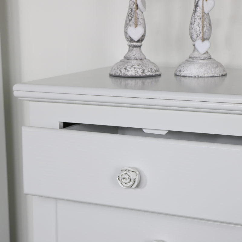 Lila Range - Furniture Bundle, Large Six Drawer Chest and Pair of Three Drawer Bedside Tables