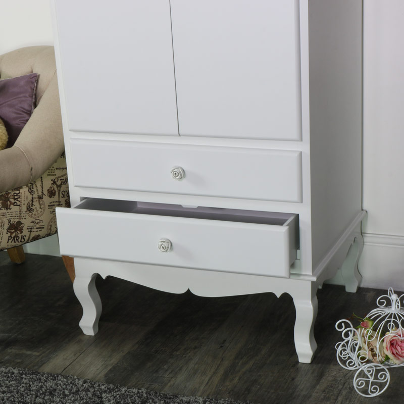 White Bedroom Set Wardrobe Chest Of Drawers And A Pair Of Large Bedside Chests Lila Range