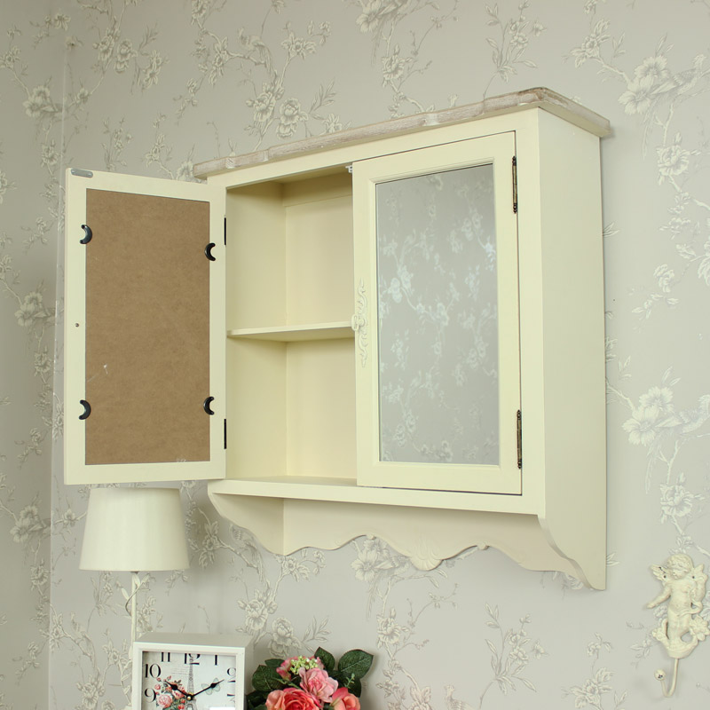 shabby chic mirrored bathroom cabinet wooden mirrored wall cabinet shabby vintage chic 25961