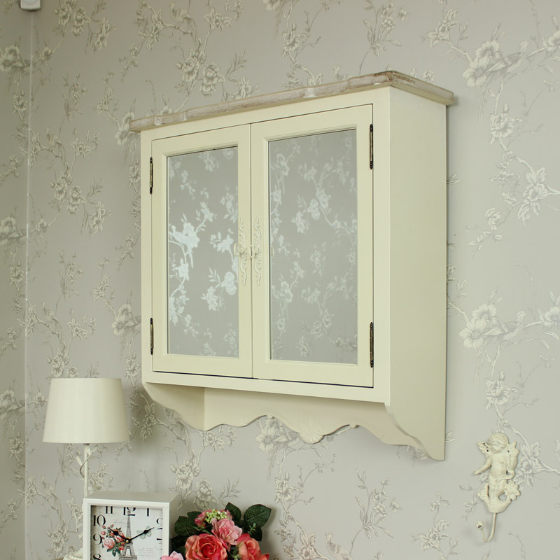shabby chic bathroom wall cabinet wooden mirrored wall cabinet shabby vintage chic 25955
