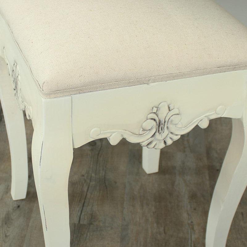 Belfort Range - Cream Padded Dressing Table Stool