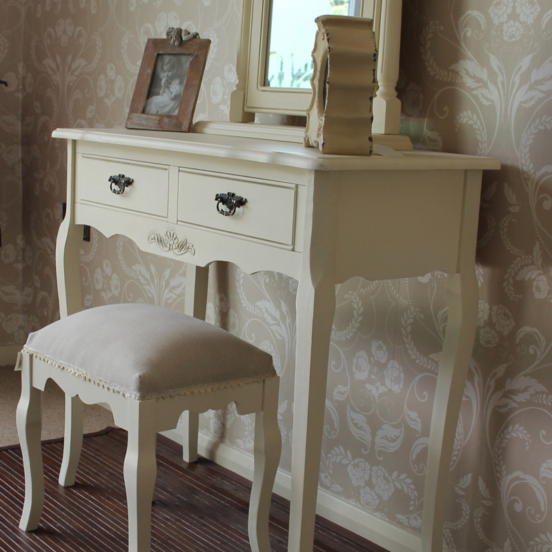 Belgravia Range - Cream Dressing Table with Mirror and Stool