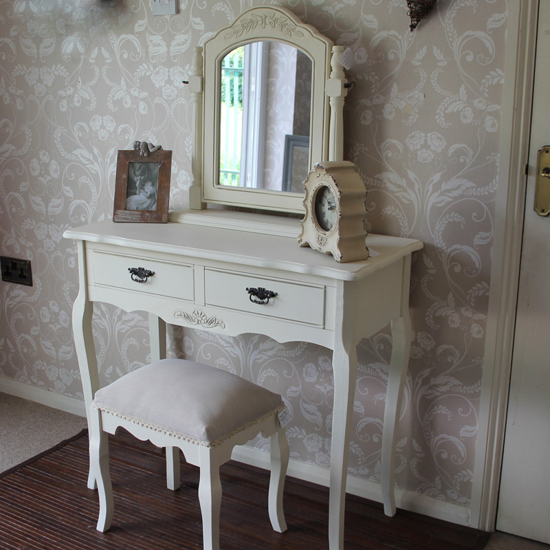 Belgravia range cream dressing table with mirror and for Range dressing table