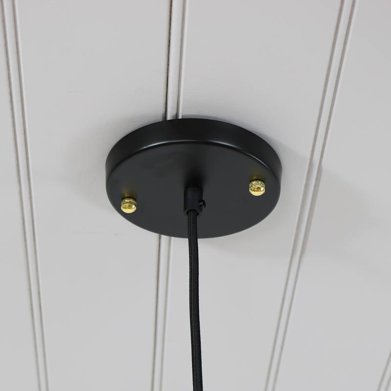 Black Caged Metal Wire Pendant Light