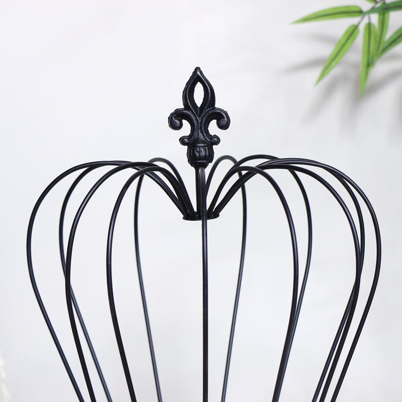 Black Crown Candle Holder