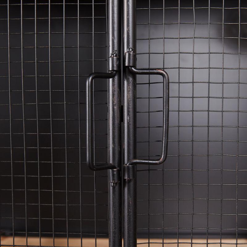 Black Industrial Metal Display Cabinet