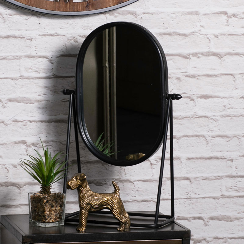 Black Metal Bathroom Vanity Mirror