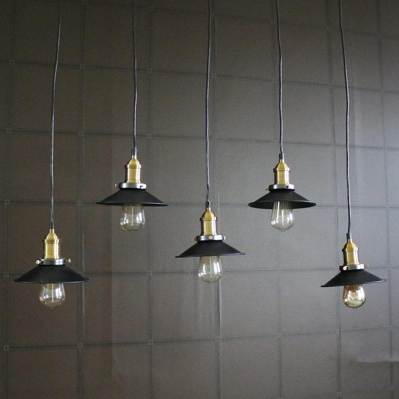Black Metal Ceiling 5 Light Cluster