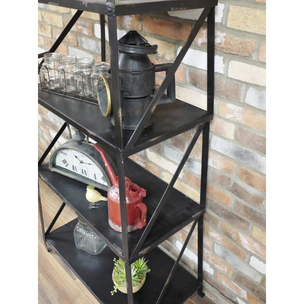 Black Metal Industrial Tier Shelves