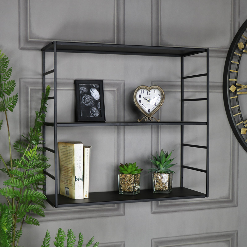 Black Metal Wall Shelves