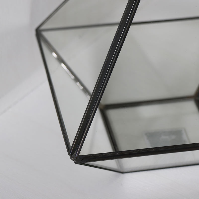 Black Pyramid Style Terrarium