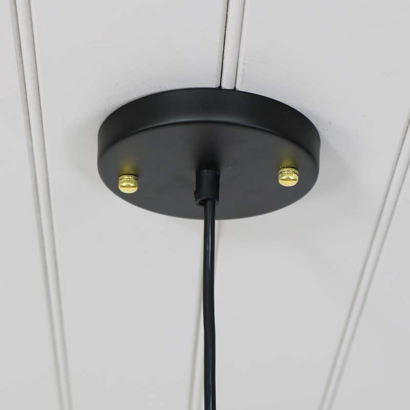 Black Retro Industrial Style Pendant Light Fitting