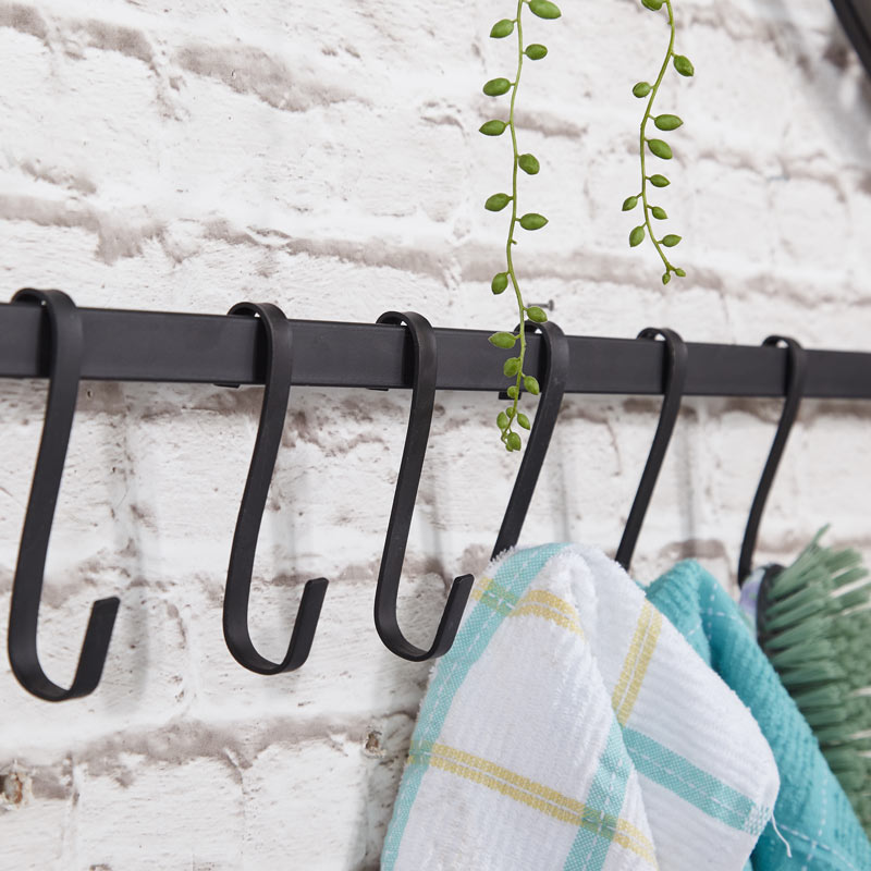 Black Wall Mounted Hooks