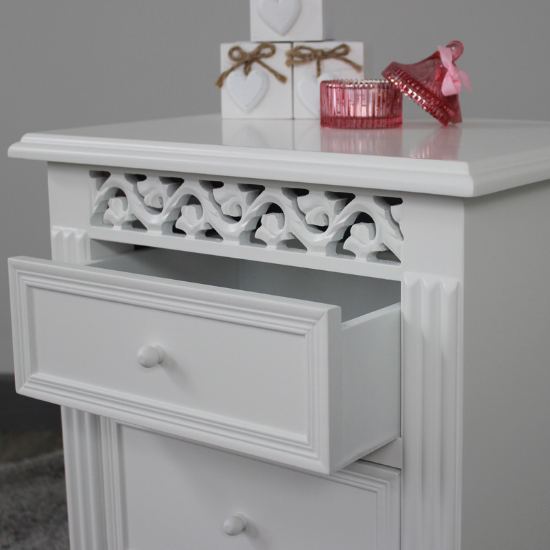 Blanche Range - 3 Drawer Bedside Table
