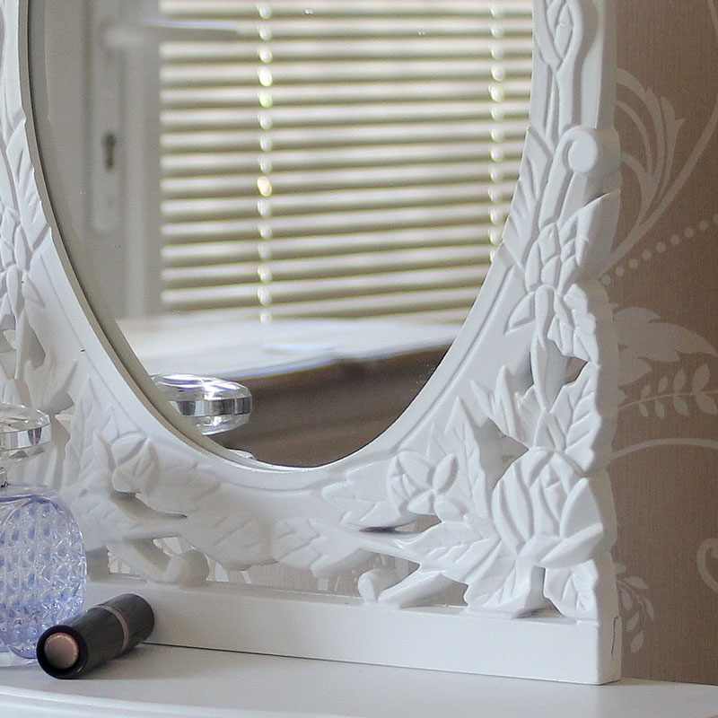 Blanche Range - White Dressing Table and Mirror Set