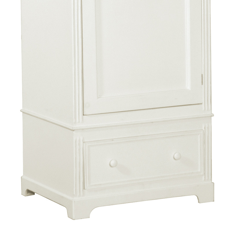 Blanche Range - White Single Wardrobe