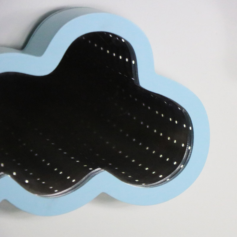 Blue Cloud Shape LED Light Infinity Mirror