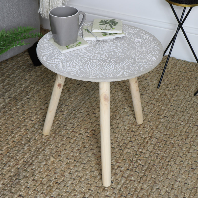 new concept c4c4d 2c8b9 Boho Chic Side Table
