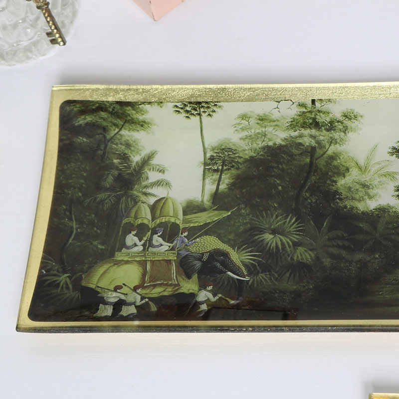 Botanical Glass Trinket Tray