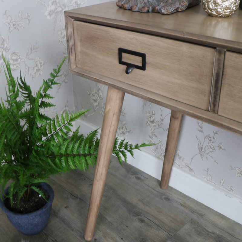 Brixham Range - Three Drawer Console Table