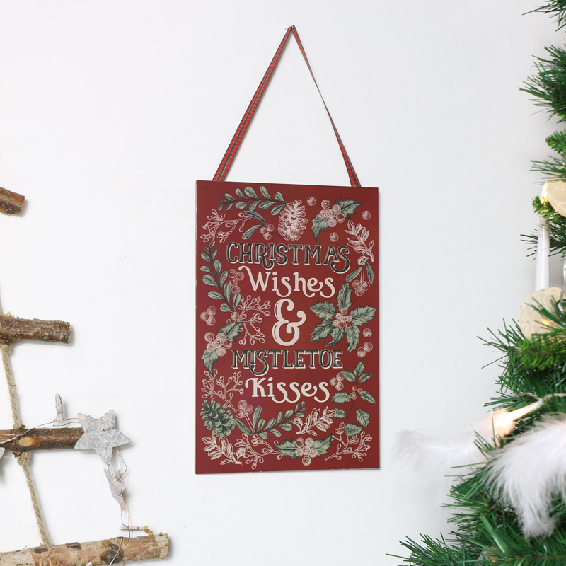 Christmas Wall Plaque - Christmas Wishes