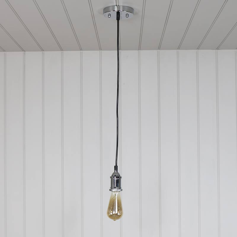 bare bulb lighting. Chrome Bare Bulb Ceiling Light Lighting F