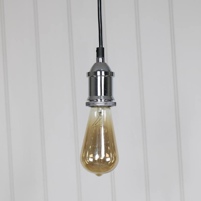 Chrome Bare Bulb Ceiling Light