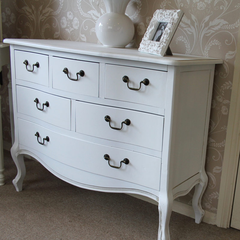classic white 6 drawer chest of drawers melody maison. Black Bedroom Furniture Sets. Home Design Ideas