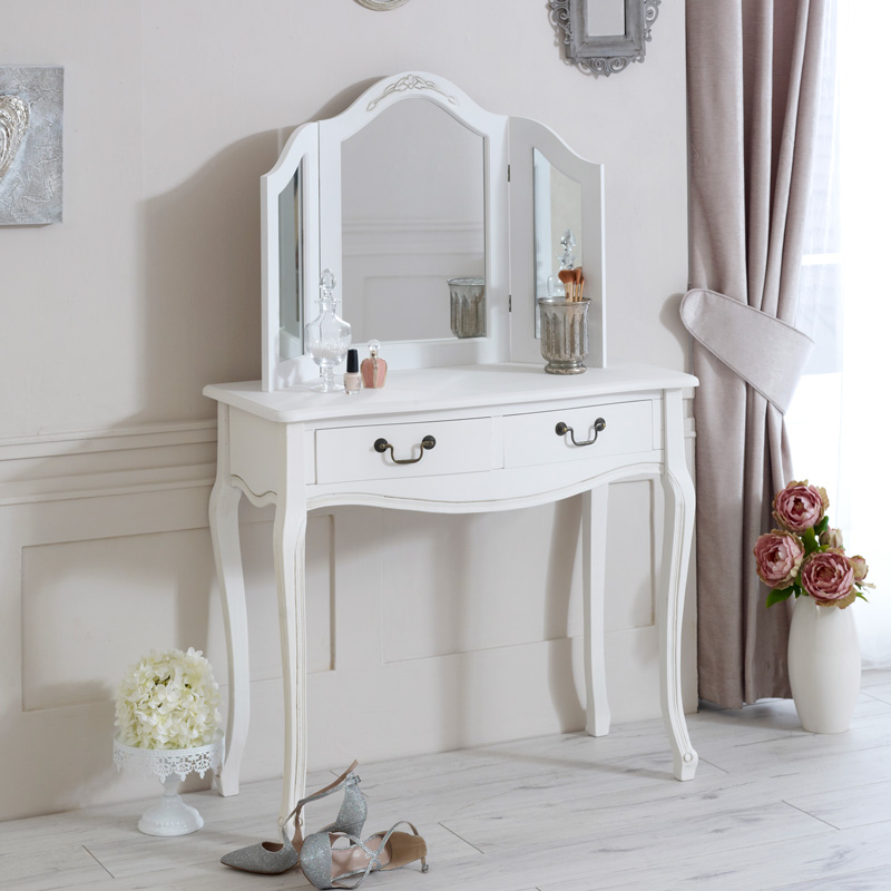 Classic White Range - Dressing Table with Mirror