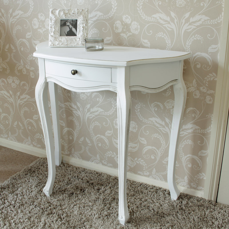 Half Moon Table Classic White Range Melody Maison 174